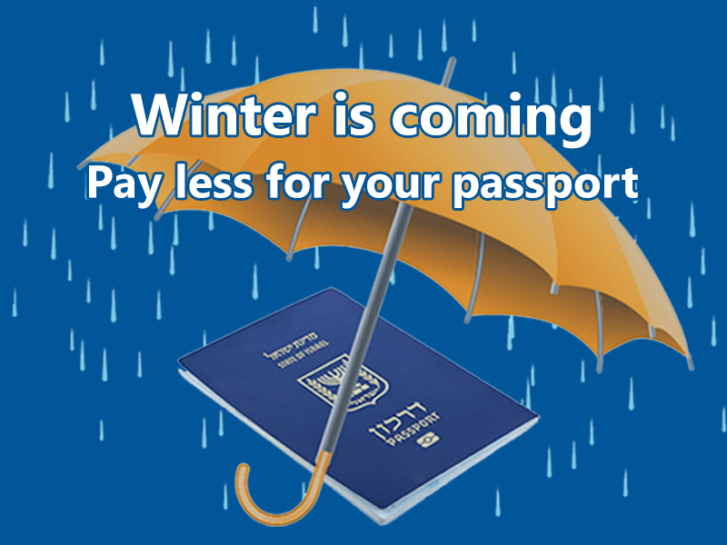 Passports cost less in winter
