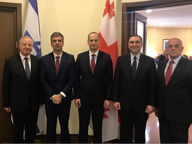 אלי כהן, שר הכלכלה והתעשייה בביקורו בגיאורגיה